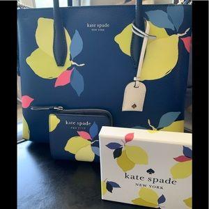Kate spade Eva lemon zest satchel &bi-fold wallet